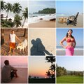 Incredible India Goa  - collage nine photos Stock Photo