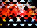 An incredible and ravishing illustration of colorful geometric pattern of squares Royalty Free Stock Photo