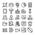 Science and Education Line Vectors Pack