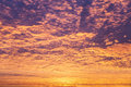 Incredible sunrise or sunset sky with clouds Royalty Free Stock Photos