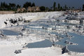 The incredible travertines otherwise known as cotton castle at pamukkale in turkey were formed over thousands of Stock Photos
