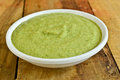 Indain green chutney indian made from coriander mint garlic and spices Stock Photo