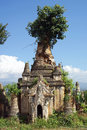 Indein inle lake myanmar pagoda ruins of Stock Photos