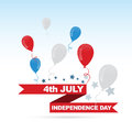 Indendence day design american independence with balloons Stock Photo