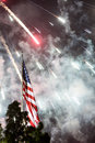 Independance day fireworks a bright loud display on the th of july for in los angeles california usa Stock Photos