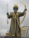 Independance monument turkmenistan statue of ancient hero at in ashgabat Stock Images
