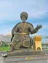 Independance monument turkmenistan statue of ancient hero at in ashgabat Royalty Free Stock Image
