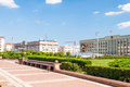 Independance square minsk in the center of belarus Royalty Free Stock Photos