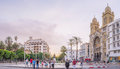 The independance square tunis tunisia august with it seuropean architecture is one of important centers of city life on Royalty Free Stock Photo