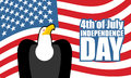 Independence Day of America. Eagle and USA flag. National holiday Royalty Free Stock Photo
