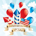 Independence day background vector illustration Stock Photos