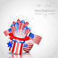 Independence day background vector with place for your text Stock Photo