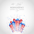 Independence day background vector with place for your text Stock Image