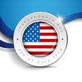 Independence day badge or label vector Stock Image
