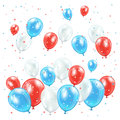 Independence day balloons background with and confetti illustration Royalty Free Stock Photography