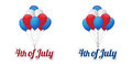 Independence day balloons happy th of july Royalty Free Stock Images