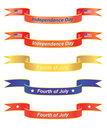 Independence Day banners Royalty Free Stock Photos