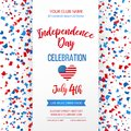 Independence day celebration. Fourth of July.Traditional American holiday greeting card, poster, flyer. Patriotic banner Royalty Free Stock Photo