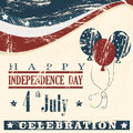Independence day celebration print over beige background vector illustration Royalty Free Stock Photos
