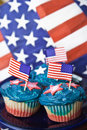Independence day cupcakes Royalty Free Stock Photo