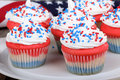 Independence Day Cupcakes Stock Image