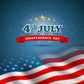 Independence day flag of american design background illustration Stock Photography