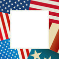 Independence day flag card copy space for Royalty Free Stock Photos