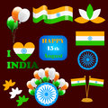 Independence Day India creative vector illustration in national flag colour