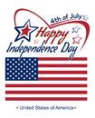 Independence Day lettering card. 4th of July