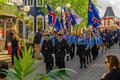 Independence Day parade in Akureyri Royalty Free Stock Photo