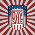 Independence Day Sale Shield with Text