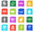 Independence day simply icons Royalty Free Stock Photo