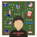 Independence Day United States. The fourth of July Royalty Free Stock Photo