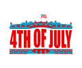 Independence Day USA emblem. White house. America Patriotic holi Royalty Free Stock Photo