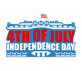 Independence Day USA emblem. White house. America Patriotic holi Royalty Free Stock Photo