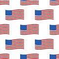 Independence day USA flags seamless pattern United States american symbol freedom national sign vector illustration