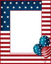 Independence day usa frame background national Royalty Free Stock Photography