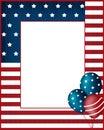 Independence day USA frame background