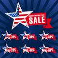 Independence day USA sale logotypes.