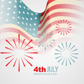 Independence day vector american background Royalty Free Stock Photos