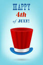 Independence day vector greeting card th of july celebration Stock Photo