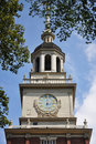 Independence Hall Bell Tower, Philadelphia Stock Image