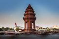 Independence monument phnom penh travel attractions in cambodi the was built for cambodia s from france it stands on the Royalty Free Stock Photo