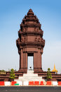 Independence monument phnom penh travel attractions in cambodi the was built for cambodia s from france it stands the centre of Royalty Free Stock Image