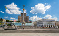 Independence square in kyiv ukraine Royalty Free Stock Photo