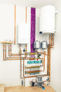 Independent heating system with boiler Stock Photos
