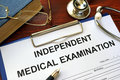 Independent Medical Examination IME form. Royalty Free Stock Photo