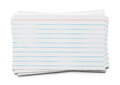Index Card Pile Royalty Free Stock Photo