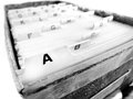 Index cards of business organized in a row by letter the alphabet Royalty Free Stock Photography
