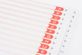 Index file Royalty Free Stock Photo